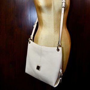 Dooney & Bourke Cream Leather Pebble Crossbody Bag